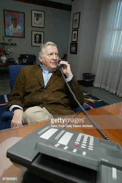New York Yankees' owner George Steinbrenner in his office at Legends Field the team's spring training facility in Tampa Fla