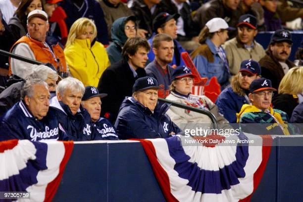New York Yankees' owner George Steinbrenner watches from the stands as the Yankees take on the Atlanta Braves in Game 1 of the World Series at Turner...