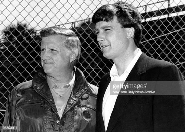 New York Yankees' owner George Steinbrenner with son Hank