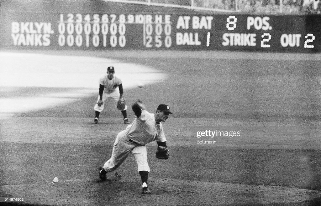 Don Larsen Executing an Out for a Win : News Photo