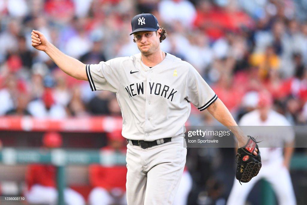 MLB: SEP 01 Yankees at Angels : News Photo