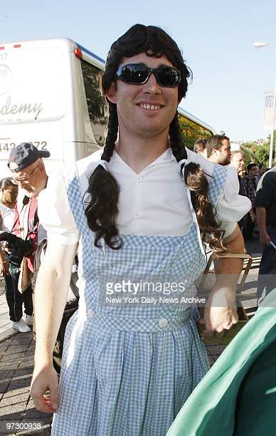 New York Yankees' pitcher Ian Kennedy is dressed up as Dorothy from the Wizard of Oz for the Yankees Annual Rookie Hazing on Monday