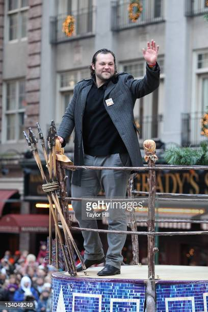 New York Yankees pitcher Joba Chamberlain attends the 85th annual Macy's Thanksgiving Day Parade on November 24 2011 in New York City