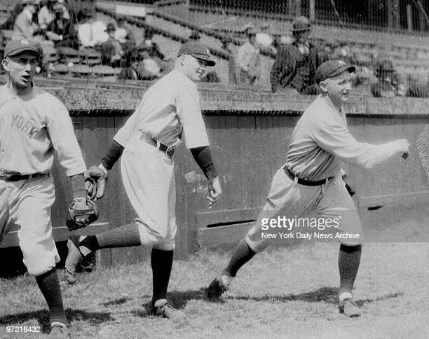 New York Yankees pitchers Sam Jones Waite Hoyt and Carl Mays