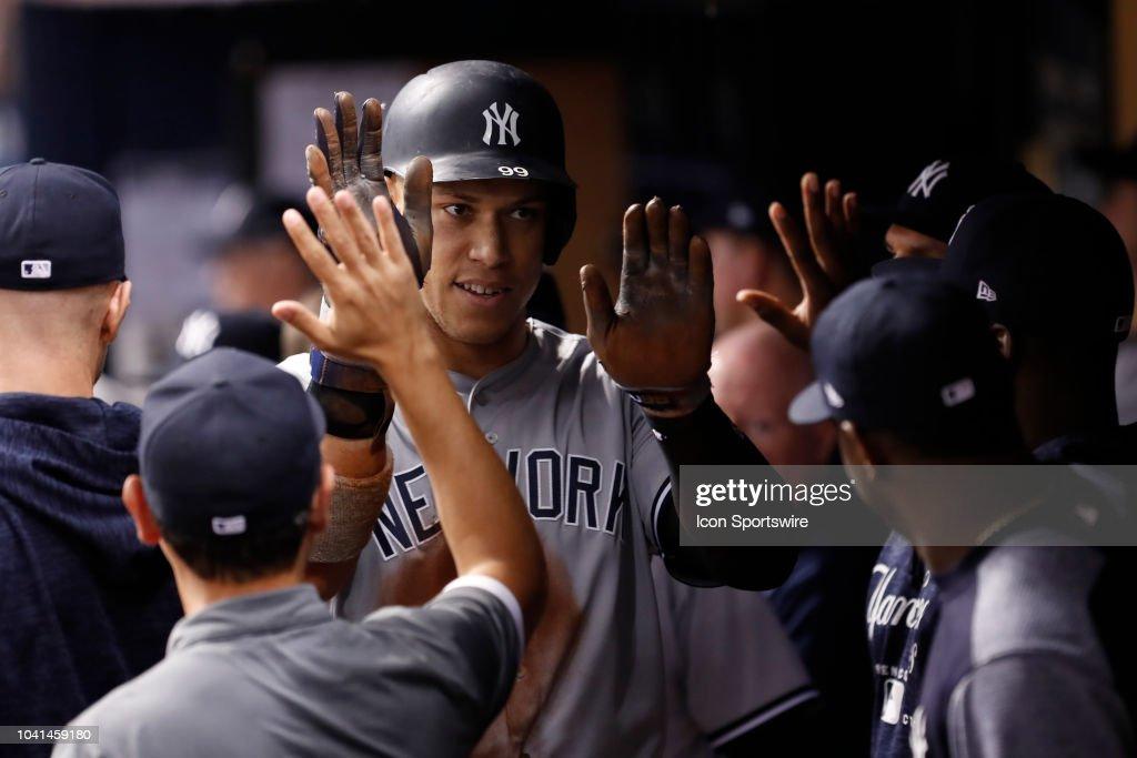 MLB: SEP 26 Yankees at Rays : News Photo