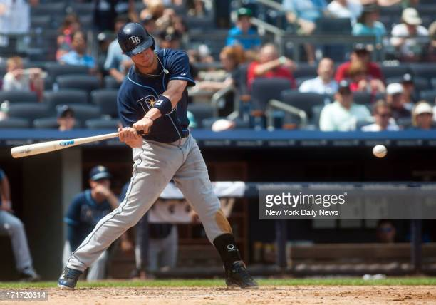New York Yankees starting pitcher CC Sabathia gives up a grand slam in the 6th inning to Tampa Bay Rays right fielder Wil Myers at Yankee Stadium