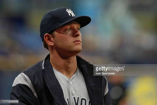New York Yankees starting pitcher Chance Adams during the MLB game between the New York Yankees and Tampa Bay Rays on September 24, 2019 at Tropicana...
