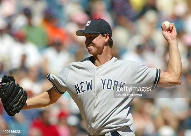New York Yankees' starting pitcher Randy Johnson during a game against the Chicago White Sox at US Cellular Field in Chicago Illinois on August 21...