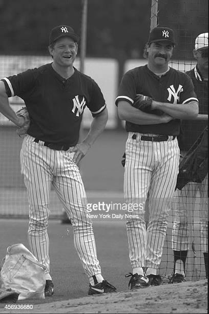 New York Yankees Steve Howe and Mike Riordan