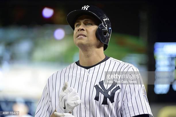 New York Yankees third baseman Alex Rodriguez flies out 4th inning New York Yankees vs Tampa Bay Rays at Yankee Stadium Tuesday September 24 2013...