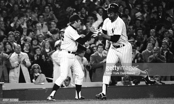 New York Yankees vs Kansas City Royals Third base coach Dick Howser is ready with congrats Keith Torrie/NY Daily News via Getty Images