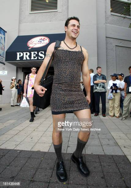 New York Yankees vs Tampa Bay Devil Rays at Yankee Stadium After game Rookie Hazing day at Yankee Stadium All Rookies from both teams have to dress...