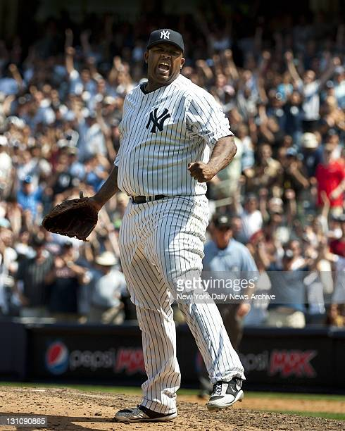 New York Yankees vs Tampa Bay Rays at Yankee Stadium 9th inning Yankees win 10 New York Yankees starting pitcher CC Sabathia pitches complete game