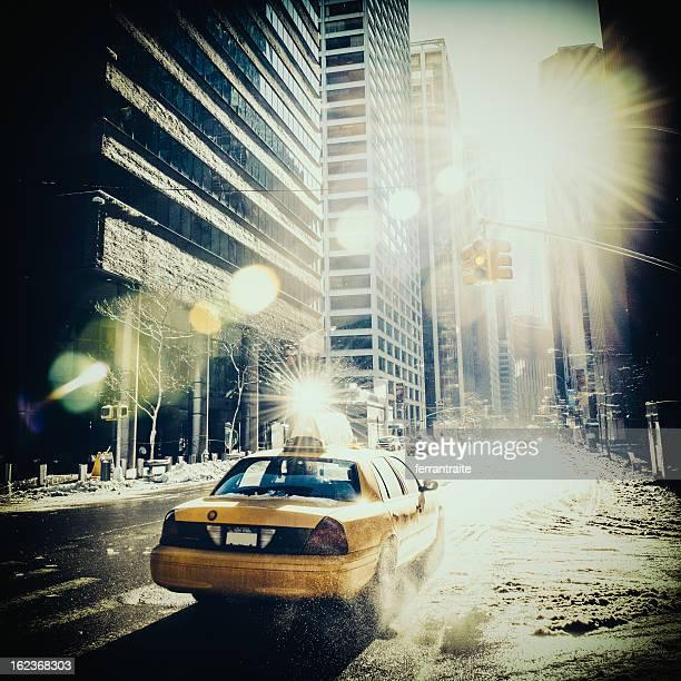 ニューヨークのイエローキャブ