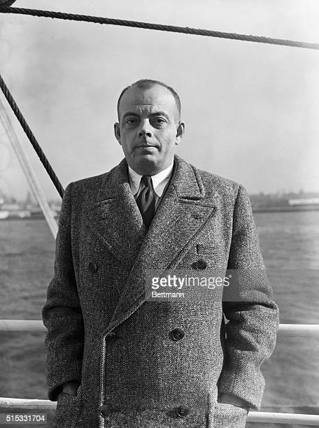 New YorkAntoine de Saint Exupery famous French flyer and writer arrives from Lisbon aboard the liner Siboney