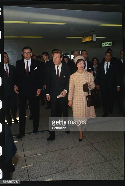 New YorkBritain's Princess Margaret and her husband Lord Snowdon walk through Boac terminal following their arrival here November 4
