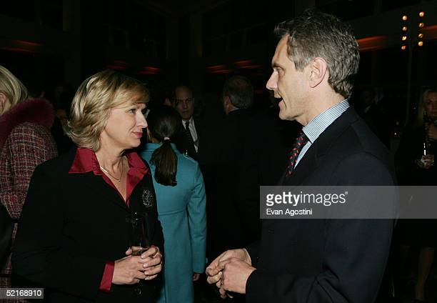New Yorker EditorinChief Tina Brown and Infinity Broadcasting Chairman CEO John Sykes attend Time Warner's Conversations On The Circle at the Time...