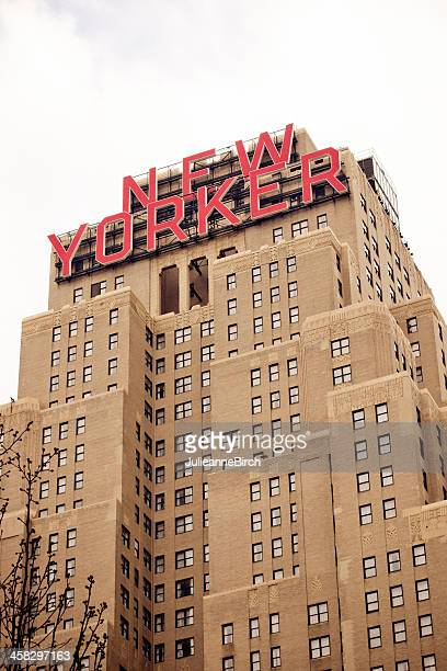 new yorker hotel, manhattan, nyc - new yorker building stock photos and pictures