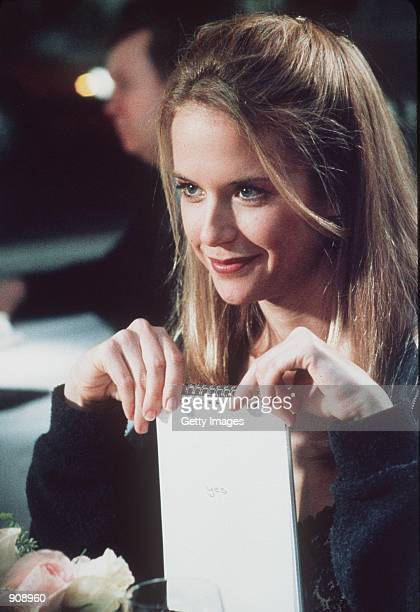New Yorker Jane Aubrey is the woman who steals major league pitcher Billy Chapel's heart in For The Love Of The Game Photo credit Ben Glass 1999...