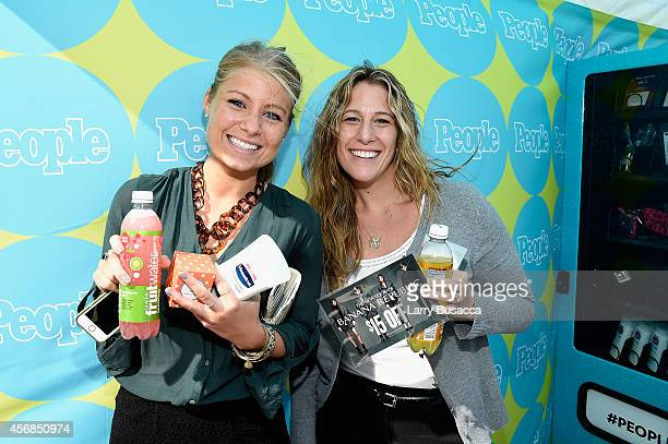 New Yorkers enjoy fruitwater C Wonder Vaseline and Banana Republic gifts from PEOPLE's TWEET FOR TREATS vending machine at Columbus Circle on October...