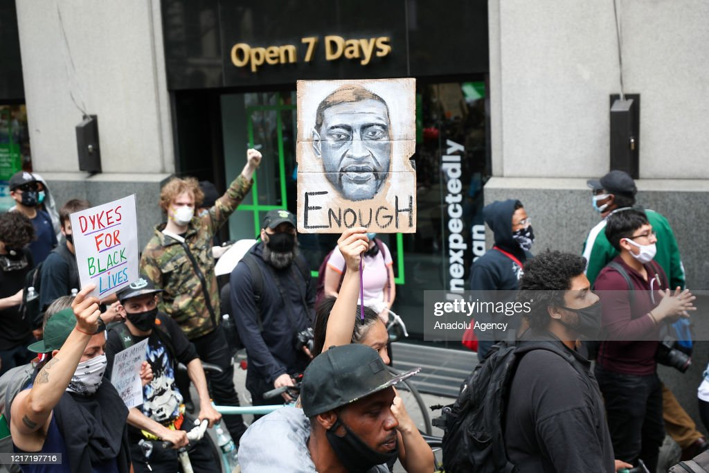 Protest over the death of George Floyd in New York : News Photo