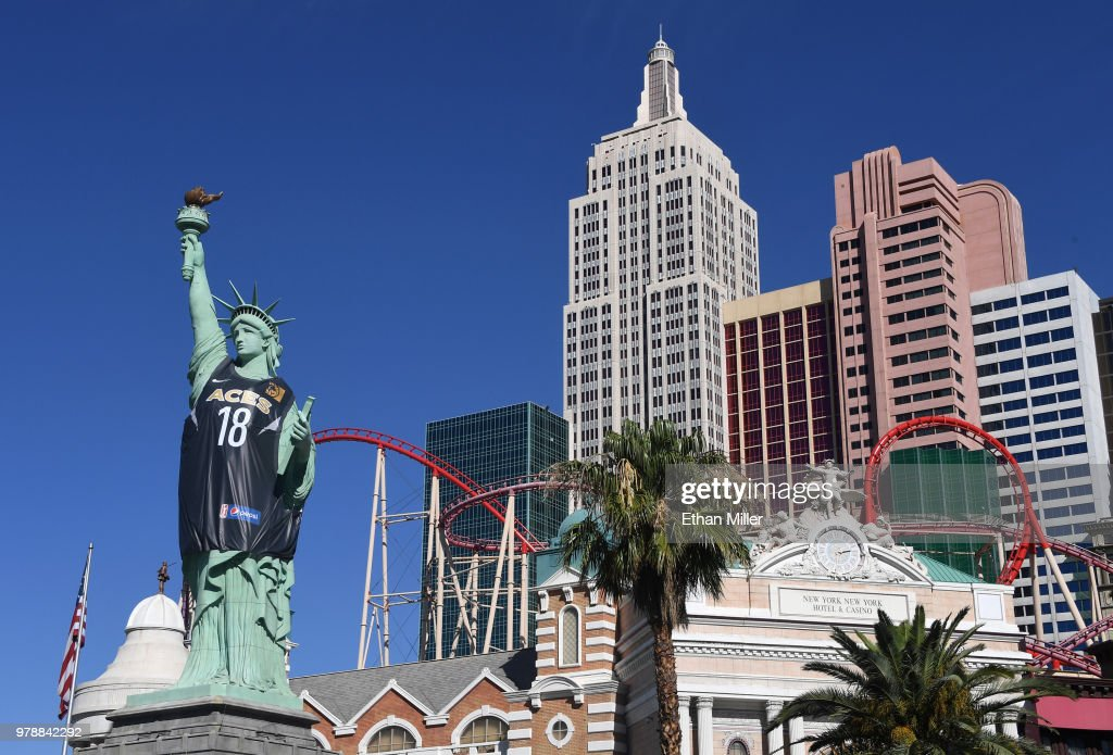 New York-New York Hotel & Casino Celebrates Inaugural Las Vegas Aces Season With Jersey On Lady Liberty