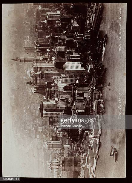 New York's Battery Park on the tip of Manhattan circa 1880