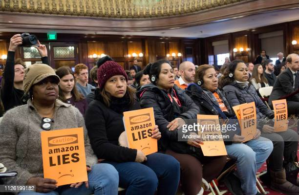 New York's city council holds its second hearing questioning the city and state's deal that gave Amazon three billion dollars to move a second...