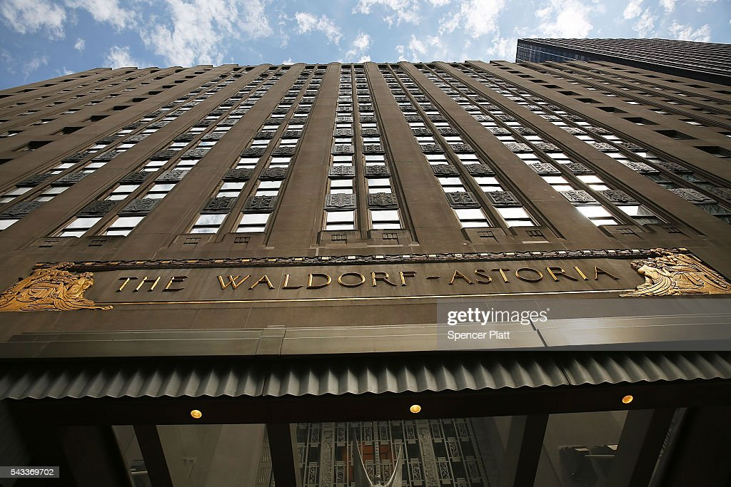 New York's Landmark Waldorf Astoria Hotel To Be Converted To Condos : News Photo