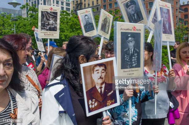 New York's Russian community marches in the annual Immortal Regiment parade to honor their relatives who fought in the Second World War and to thank...