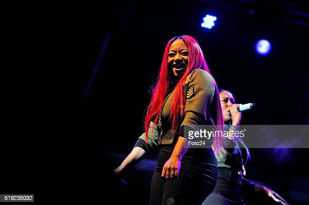 New Yorks vocal trio SWV performs during the 17th annual Cape Town International Jazz Festival on April 02 2016 in Cape Town South Africa The Cape...