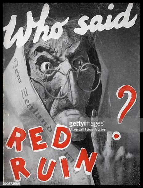 New Zealand 1950 anticommunist propaganda poster