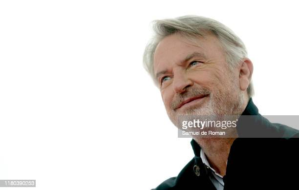 New Zealand actor Sam Neill attends Sitges film festival photocall on October 11 2019 in Sitges Spain