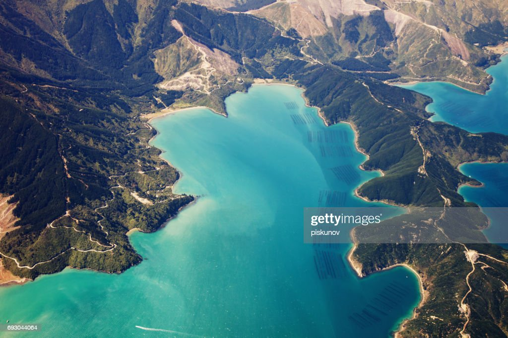 New Zealand aerial view : Stock Photo