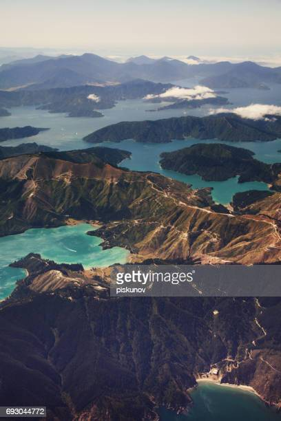 new zealand aerial view - wellington new zealand stock photos and pictures