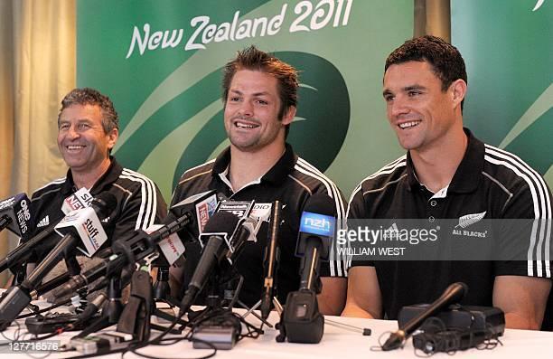 New Zealand All Black captain Richie McCaw announces he will not play in the next match due to injury as assistant coach Wayne Smith and acting...