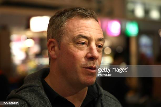 New Zealand All Black Sevens head coach Clark Laidlaw after arriving back from the Rugby Sevens World Cup in San Francisco at Auckland International...