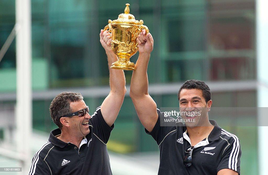 New Zealand All Blacks player Mils Mulia : News Photo
