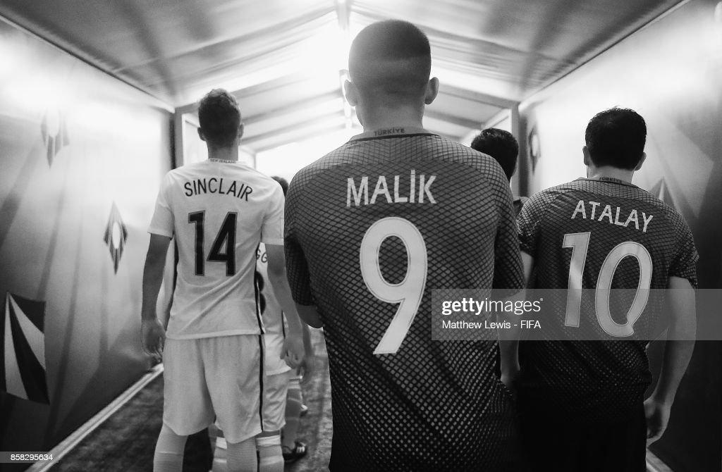 New Zealand and Turkey players enter the stadium ahead of the FIFA U-17 World Cup India 2017 group B match between New Zealand and Turkey at Dr DY Patil Cricket Stadium on October 6, 2017 in Mumbai, India.