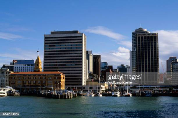 New Zealand Auckland Downtown Waterfront With Old Ferry Building