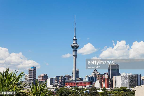 New Zealand, Auckland, Skyline, City Center, Central Business District, Sky Tower