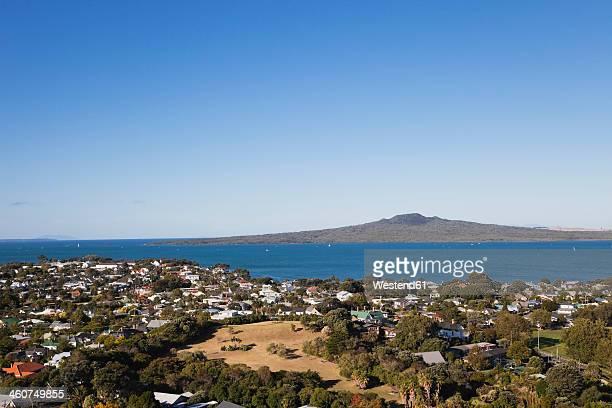 New Zealand, Auckland, View of  Rangitoto Island