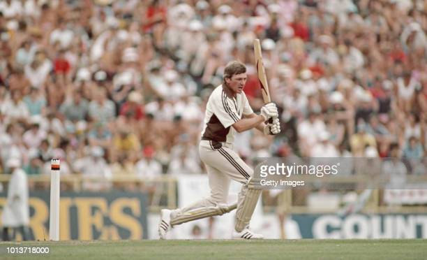 New Zealand batsman Geoff Howarth in action during the 3rd ODI between New Zealand and England in Auckland on February 25th 1984