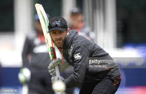 New Zealand batsman Kane Williamson in action before the Group Stage match of the ICC Cricket World Cup 2019 between Afghanistan and New Zealand at...