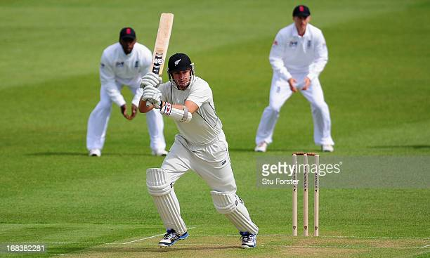 New Zealand batsman Peter Fulton picks up some runs during day one of the tour match between England Lions and New Zealand at Grace Road on May 9...