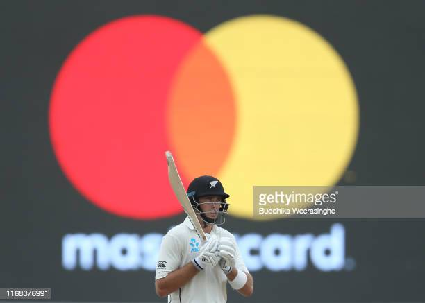 New Zealand batsman Tim Southee is pictured during day three of the First Test match between Sri Lanka and New Zealand at Galle International Stadium...