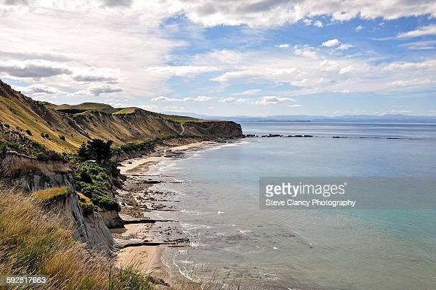 new zealand beach landscapes - napier stock-fotos und bilder