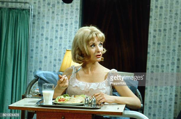 New Zealand born actress Nyree Dawn Porter pictured in a hospital ward scene from the television drama 'Wake A Stranger' in 1965