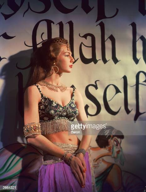 New Zealand born model Fiona Campbell Walter as a belly dancer.