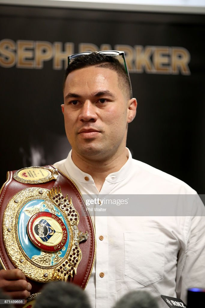 New Zealand boxer Joseph Parker speaks to the media during a press conference at Duco Events Office on November 8, 2017 in Auckland, New Zealand.
